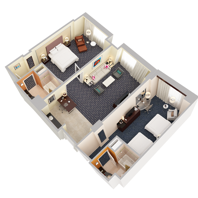 Two Bedroom Suite - View 2