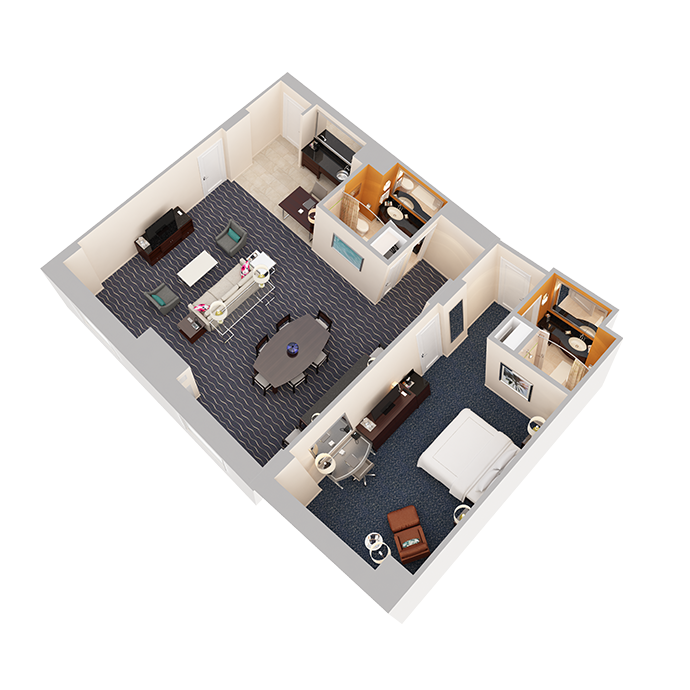 Hospitality Suite - One Bedroom (1 King Bed) - View 2