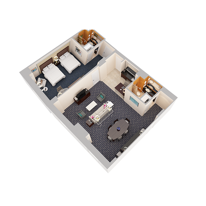 Hospitality Suite - One Bedroom (2 Queen Beds) - View 1