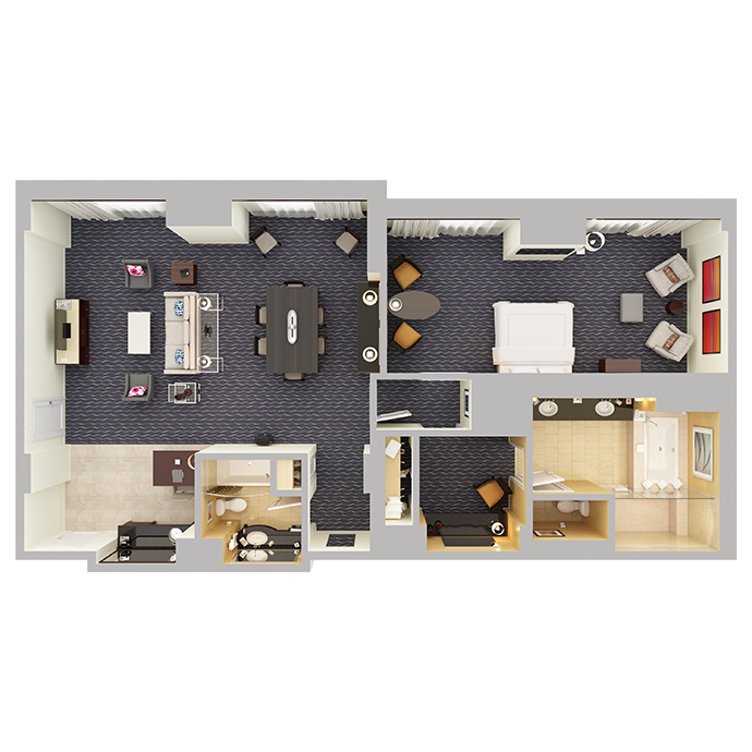 Signature Suite (One Bedroom) - Top Down View