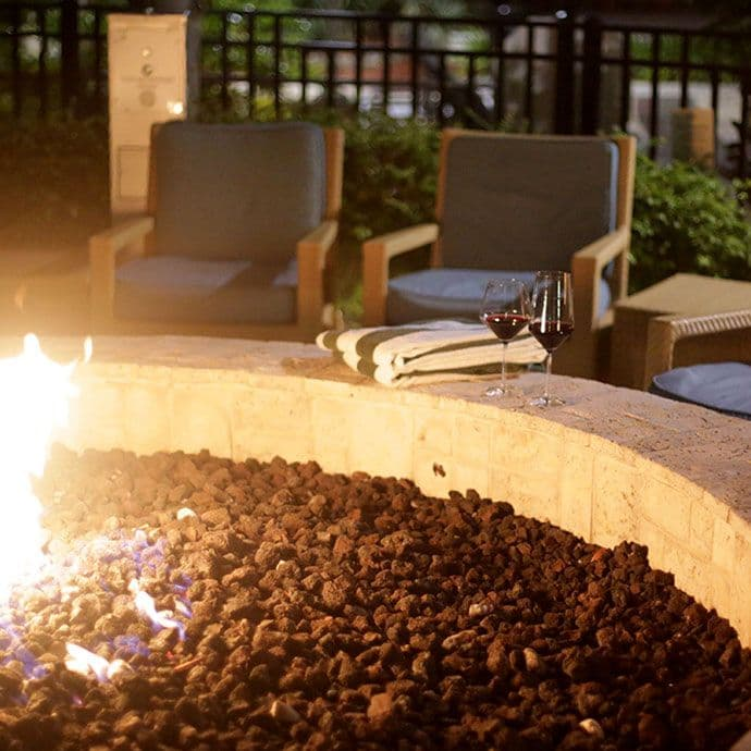 Reinvent your idea of camping with our two poolside firepits